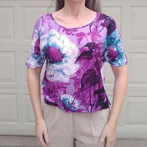 CHRIS BENZ purple silk blouse 2 (F6)
